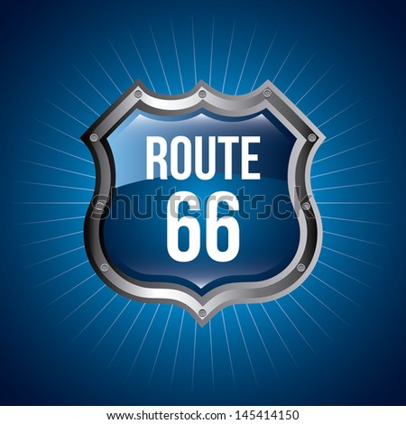 route 66 signal over blue