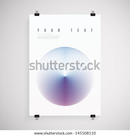 abstract a4   a3 poster