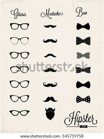 hipster vector design set
