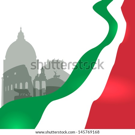 rome vector illustration with