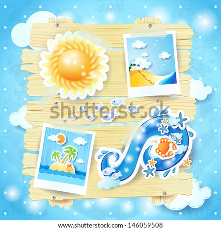 summer background with paper