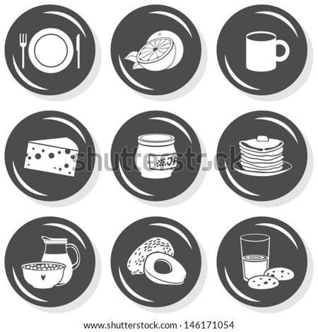 plate mug cheese jam pancakes