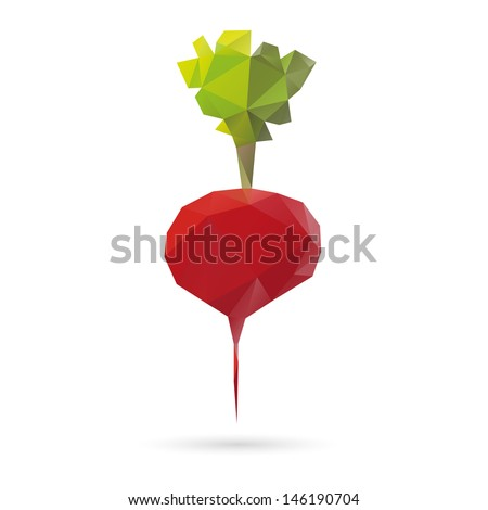 radish abstract isolated on a