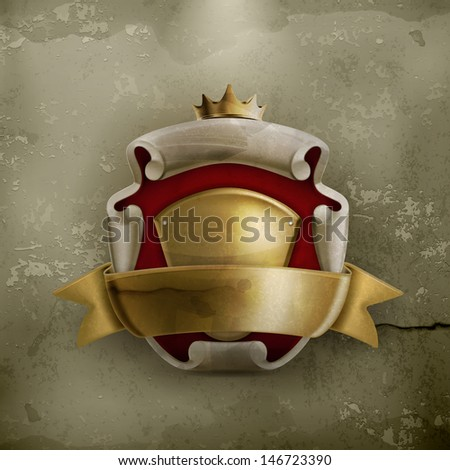 abstract ancient coat of arms