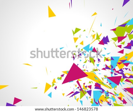 abstract 3d geometric triangles