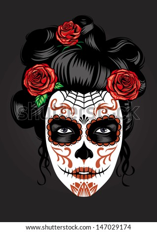 day of the dead girl make up