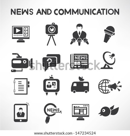 news and communication icons