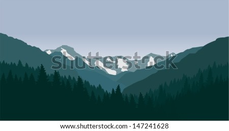 vector mountains landscape