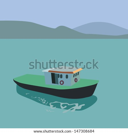 vector and illustration of boat