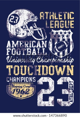 american football   vintage