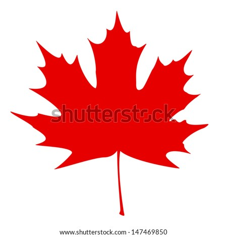 stylized canadian flag eps10