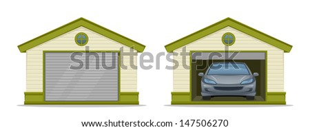 garage with car