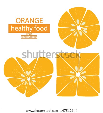 circle heart square orange