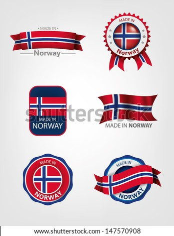 made in norway  seals  flags