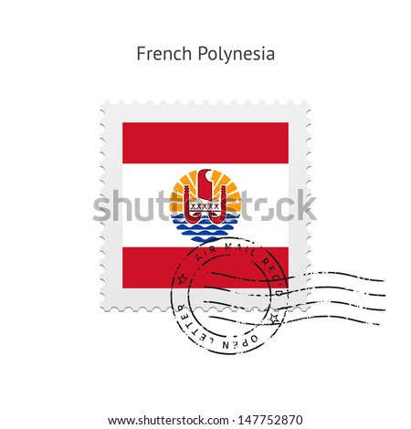 french polynesia flag postage