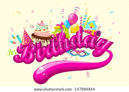 vector illustration of birthday