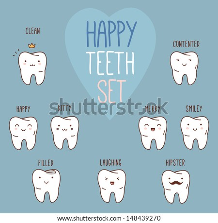 happy teeth set dental