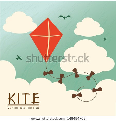 kite design over sky background