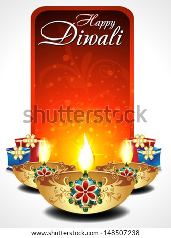 abstract diwali background with