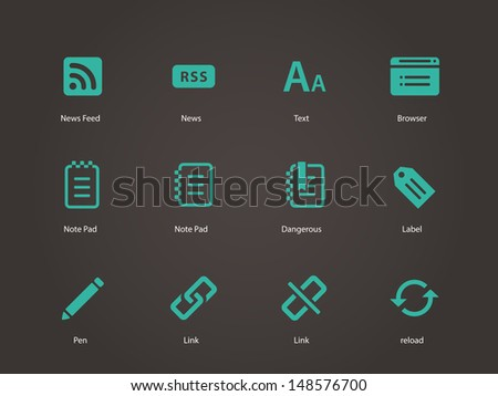 blogger icons vector