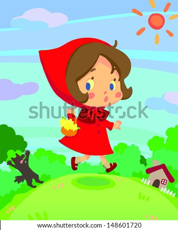 little red riding hood on run