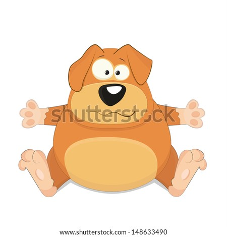 nice cartoon vector dog