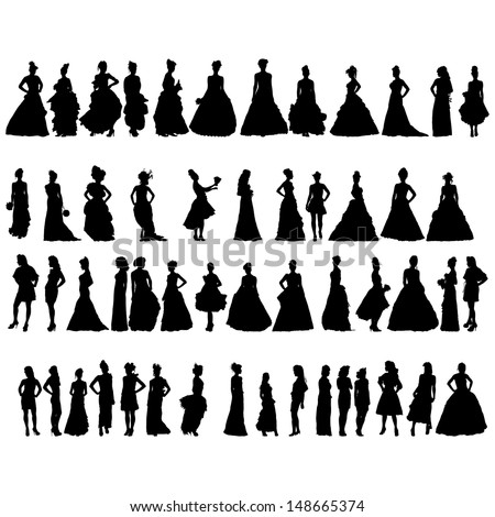 women silhouettes in various