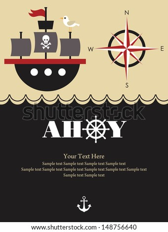 pirate party card design