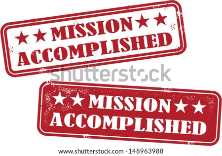 mission accomplished rubber
