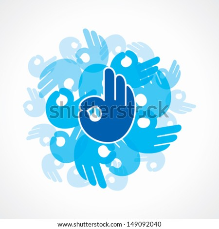 ok icon background vector