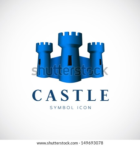 castle towers vector symbol