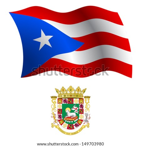 puerto rico wavy flag and coat