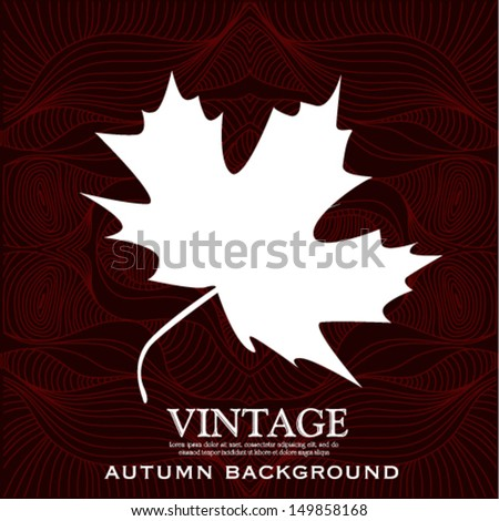 vintage autumn leaves design