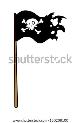 pirate flag   vector cartoon