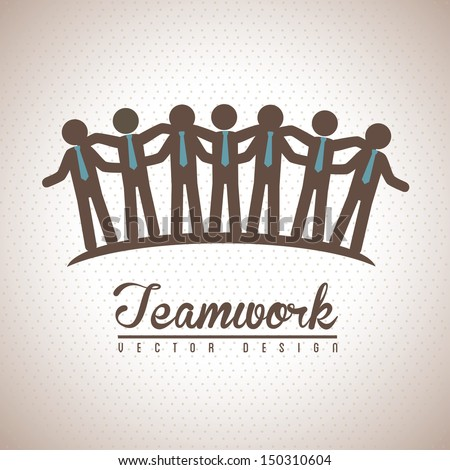 teamwork design over vintage