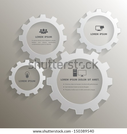 gears vector with icons can