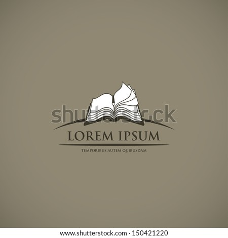 book sign   vector illustration