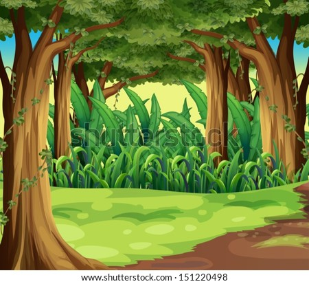 illustration of the giant trees