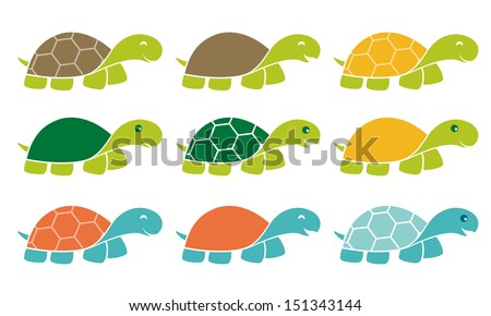 smiling happy turtle icon logo