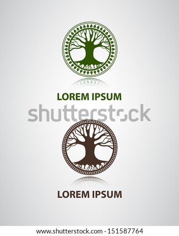 vector tree icon for company