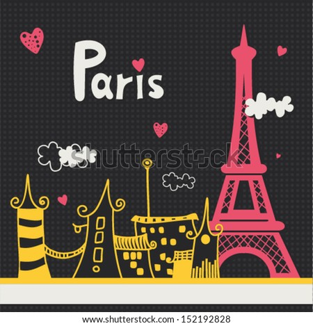 paris card design vector
