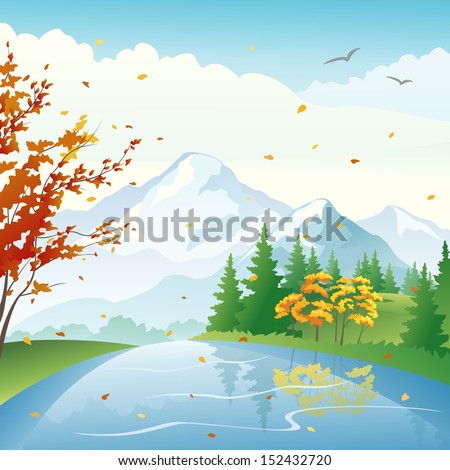vector illustration of a fall