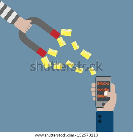 thief data   vector cartoon