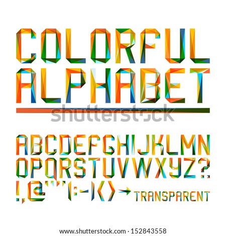colorful alphabet  10eps