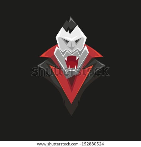 vampire isolated on a black
