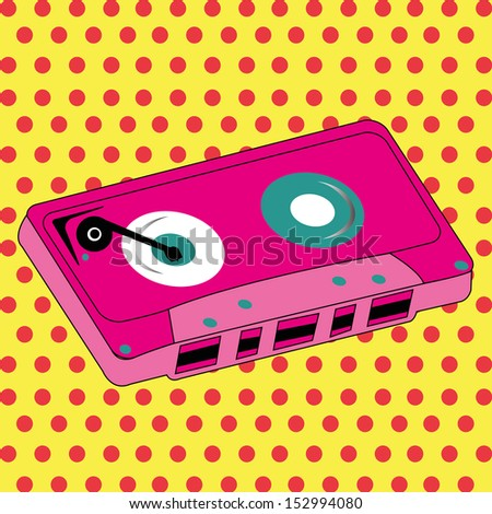 abstract pink cassette on