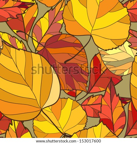 seamless background with autumn