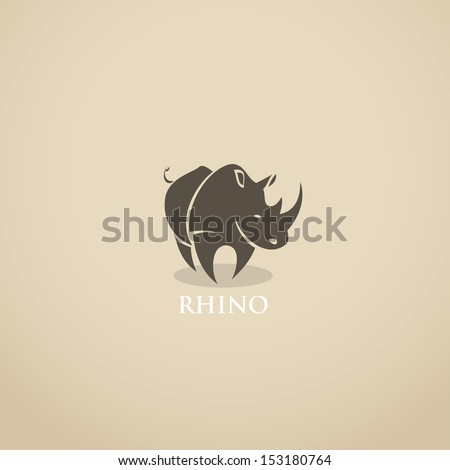 rhino sign   vector illustration