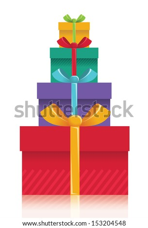 gift boxes backgroundvector