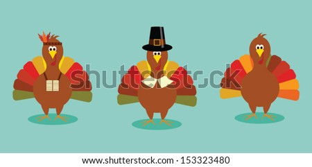cute thanksgiving turkey set